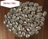 Diamantové kapky našívací 100 ks,
