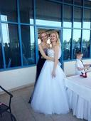 Svadobné šaty veľkosť 36-38 pridávam VIDEO+SVADOBN, 38