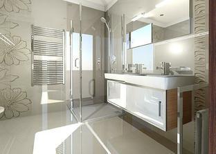 usporiadanie sprch.kúta a umývadiel v hornej kúpelni