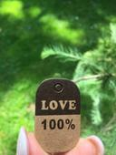 Cedulky LOVE 100 procent,
