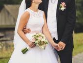 Snehovobiele svadobné šaty 32-36, 32