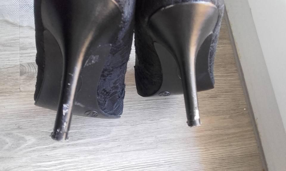 Černé krajkové lodičky - Obrázek č. 1