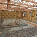 24.8.2015 - pohled do pokojů přes příčku v obývacím pokoji