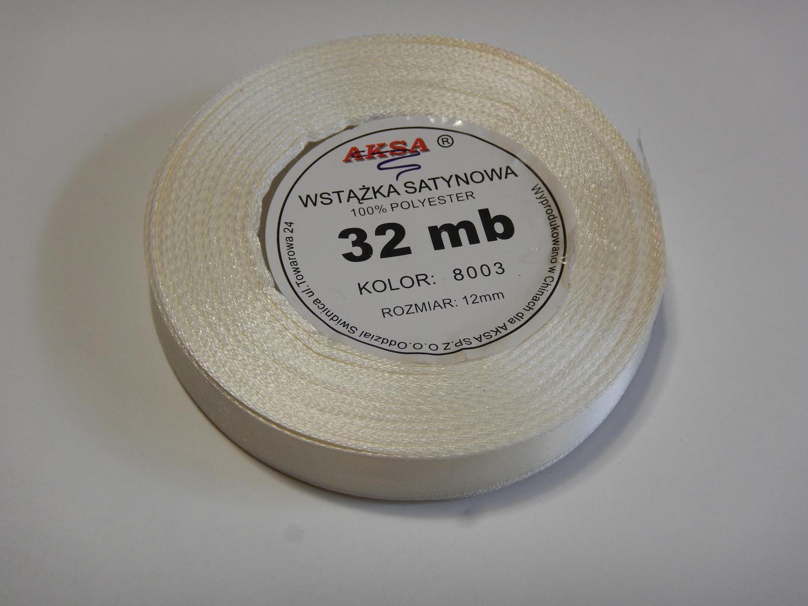 Krémová stuha - šířka 12 mm - Obrázek č. 1