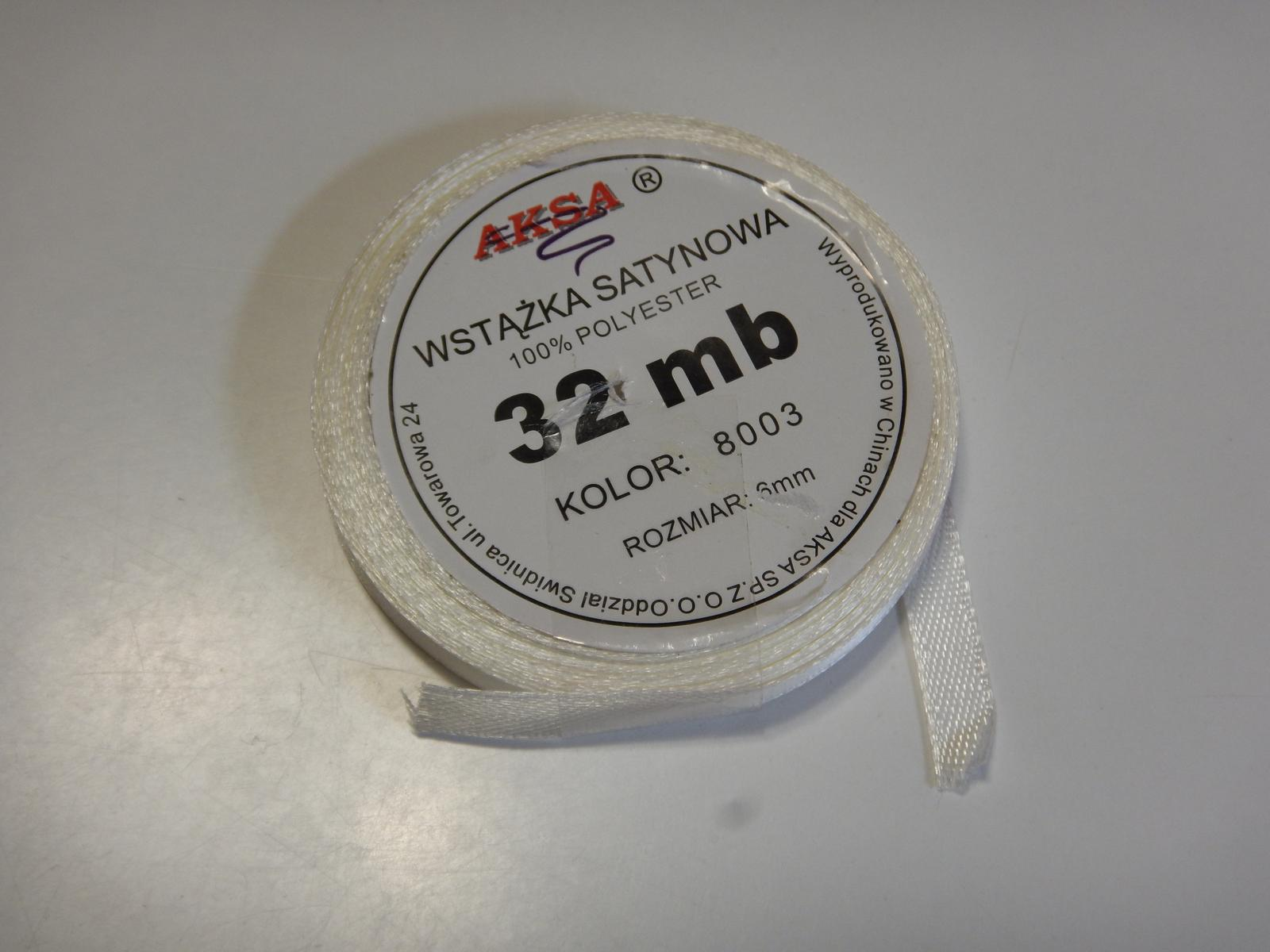 Krémová stuha - šířka 6 mm - Obrázek č. 1