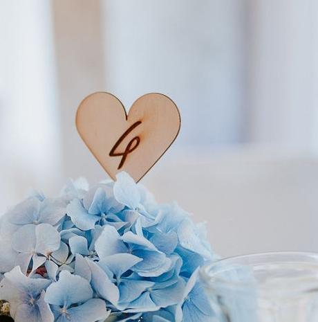 Drevené číslovanie stolov- zapichovacie do vázy - Obrázok č. 3