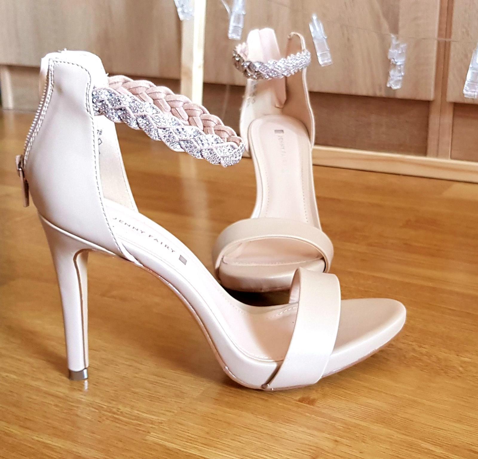 Púdrové sandálky, veľ.37 - Obrázok č. 1