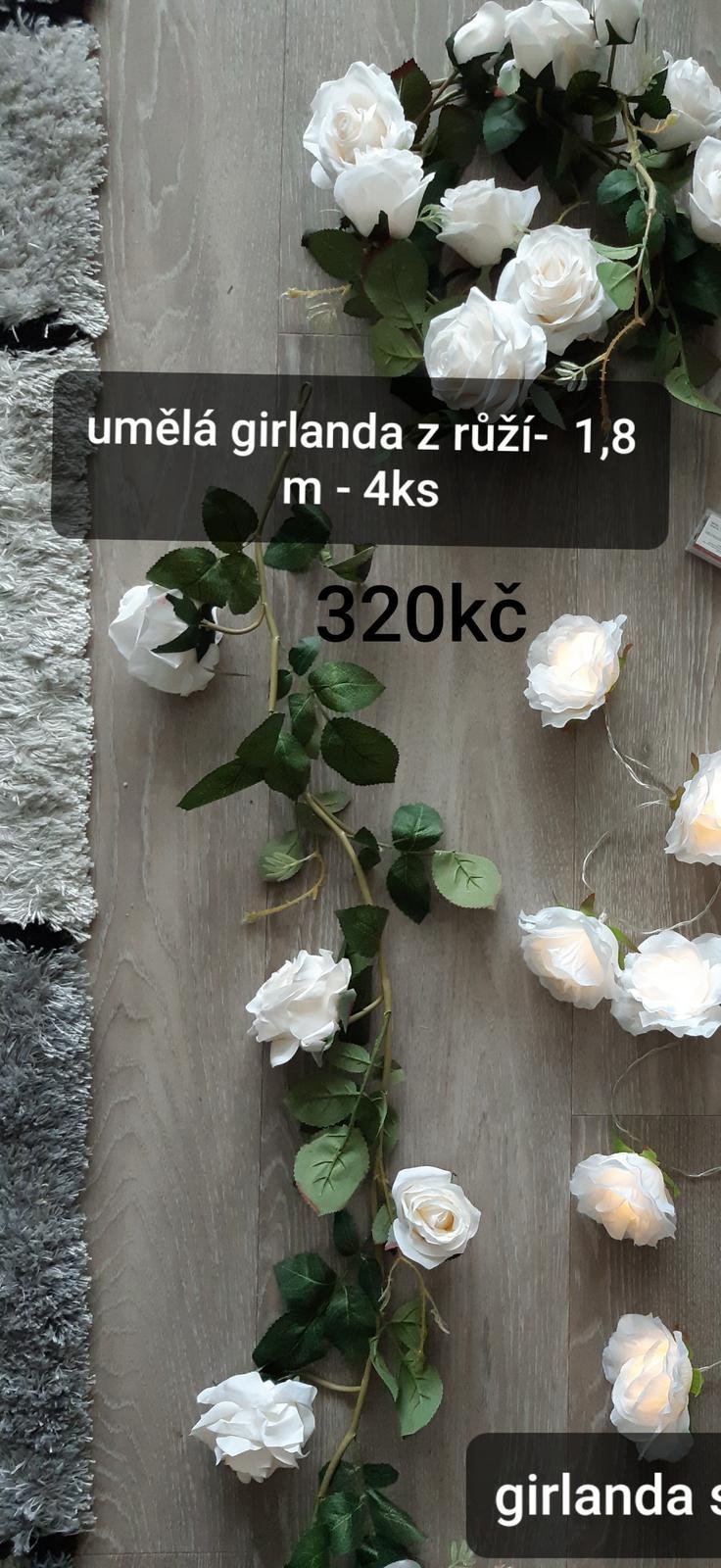 Umělé květinové girlandy 4ks - Obrázek č. 1