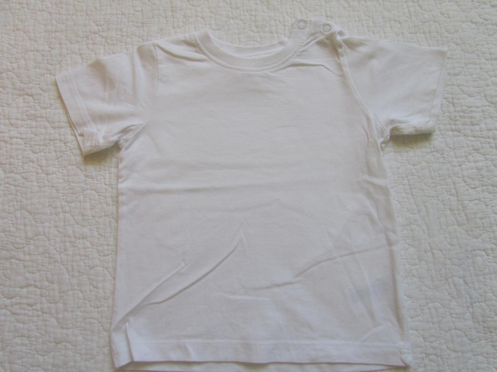 Biele tricko H&M 86 - Obrázok č. 1