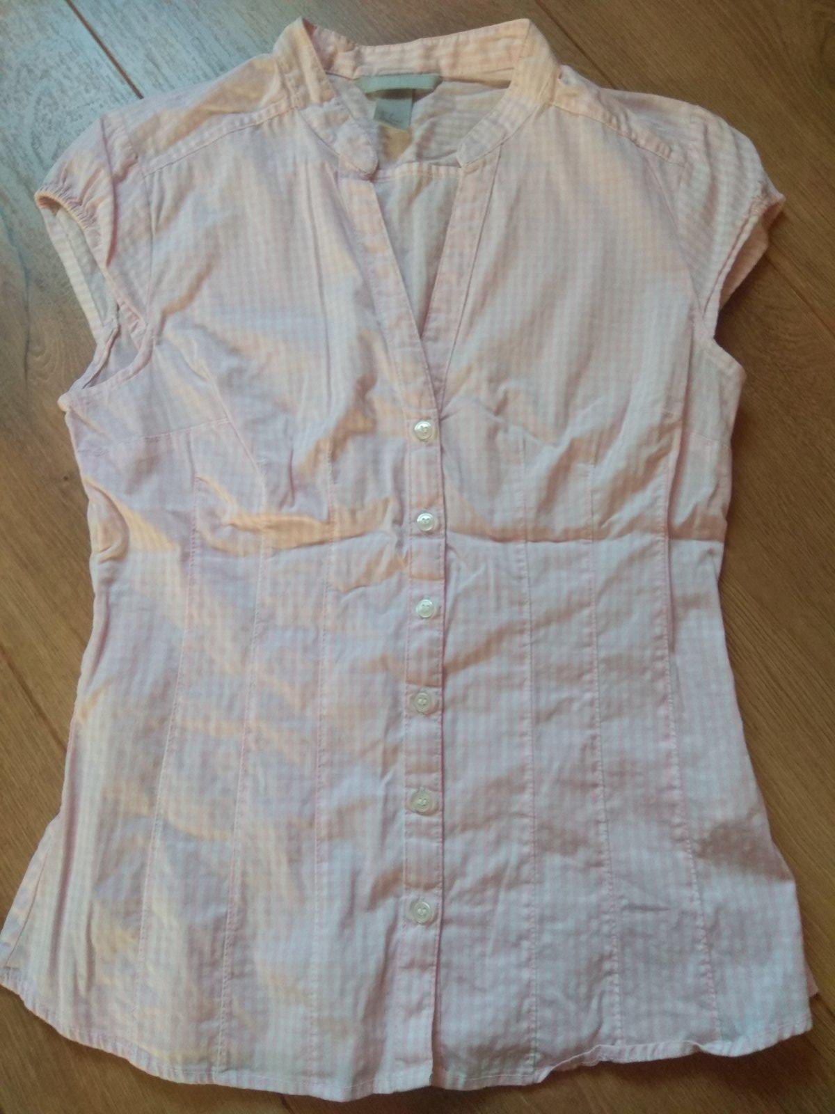 Ruzova karovana bluzka 36 H&M - Obrázok č. 1