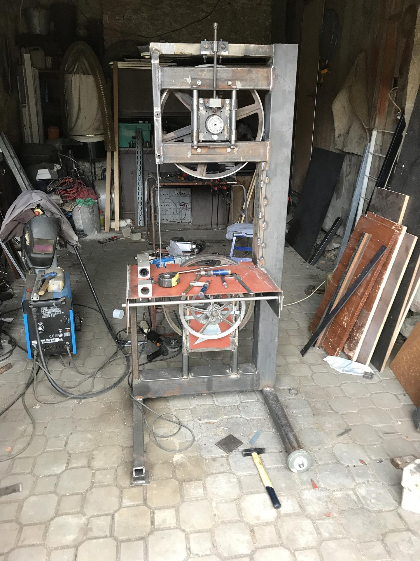 Výroba pásové pily na Ytong - Obrázek č. 7