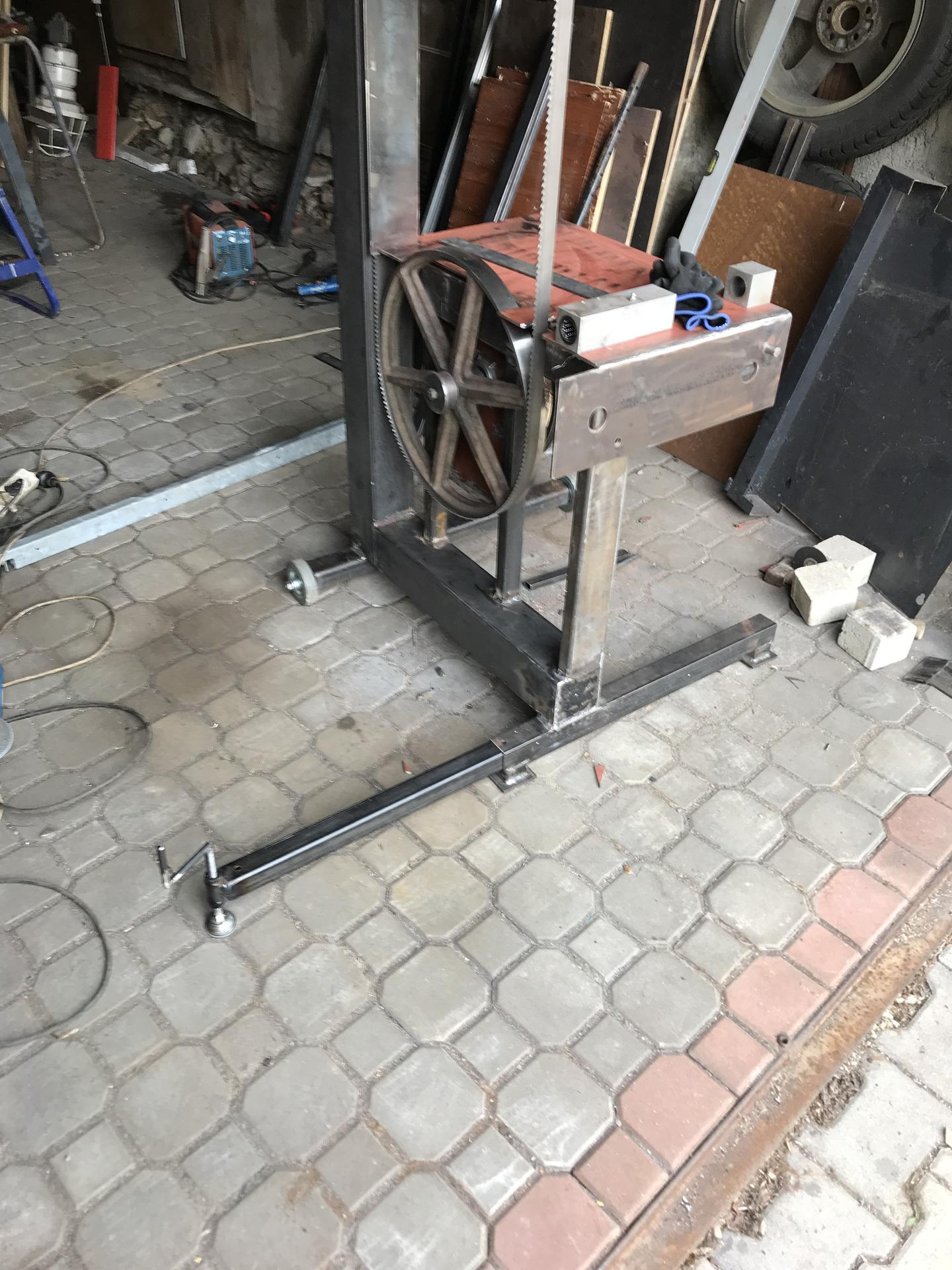 Výroba pásové pily na Ytong - Obrázek č. 11
