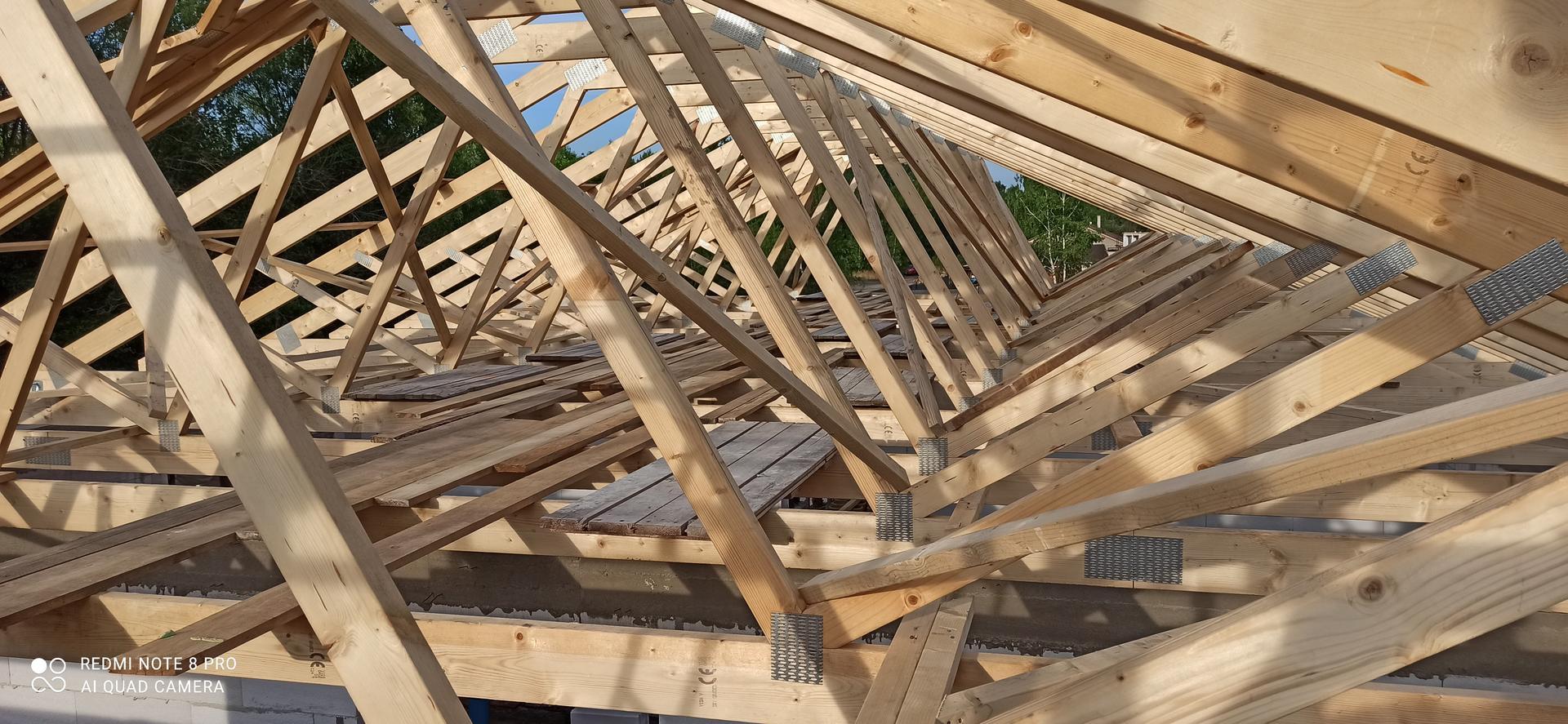 Střecha - Zavětrování diagonál