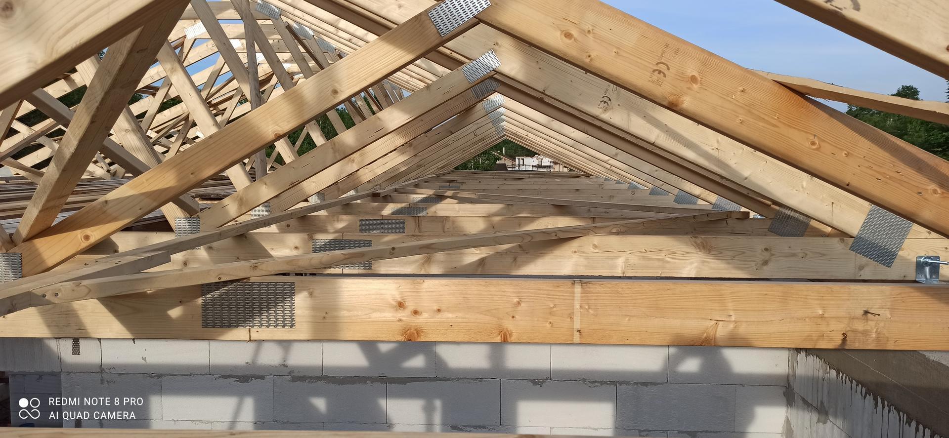 Střecha - Vodorovné zavětrování
