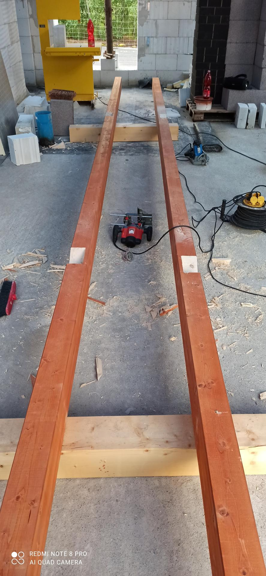 Střecha - štítové krokve