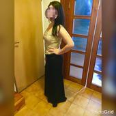 Korzet šampaň a dlhá čierna sukňa, 42