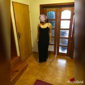 Dlhé čierne sametové šaty, 42