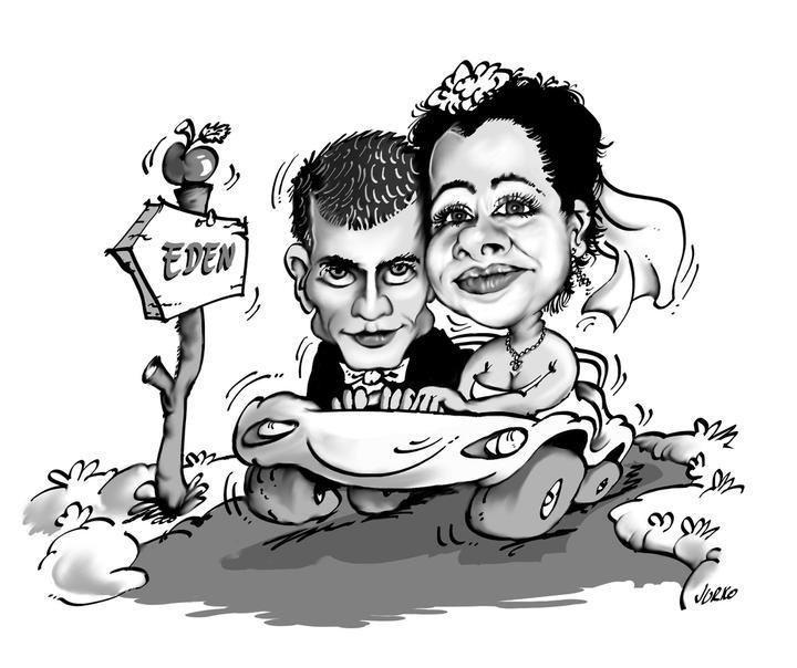 Satanik a Diablica - No tak toto je nasa konecna karikatura, ktoru dame aj na oznamko.Velmi sa mu podarila a som aj spokojna s pristupom autora.
