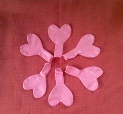 Srdíčkové balonky