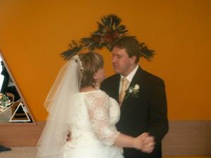 svatební taneček nevěsty a ženicha
