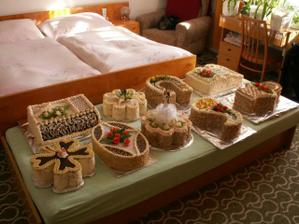 Menší přehled dortů - nejsme troškaři, měli jsem jich hned 12 ;-)