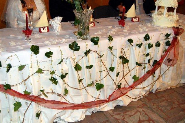 Prípravy a svadba - náš stôl...zblízka