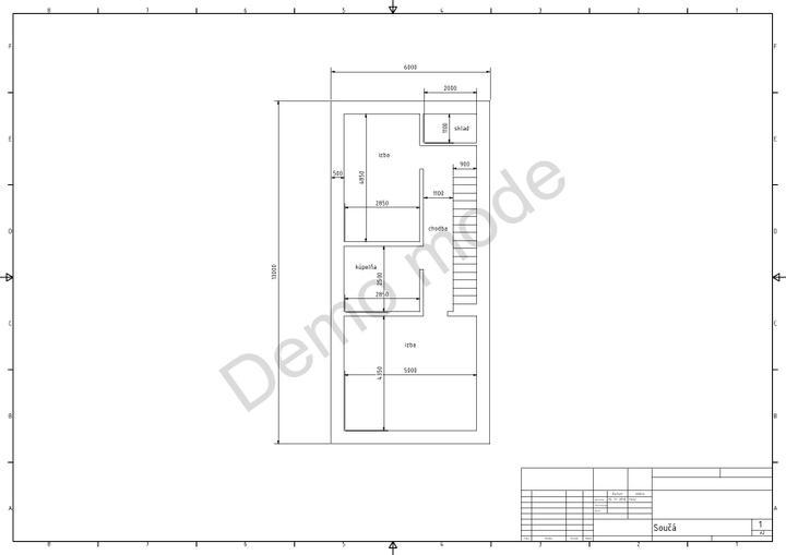 Návrh nášho buduceho domčeka - ...a už aj 2.np...ešte to musim premyslieť, nepáči sa mi nepomer veľkosti izieb...