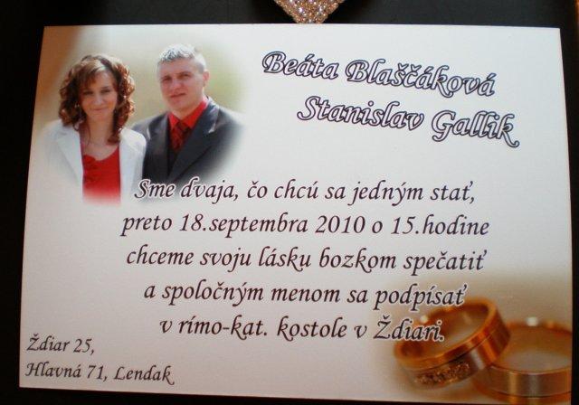 Bejka a Stanušik@ - Oznamko...