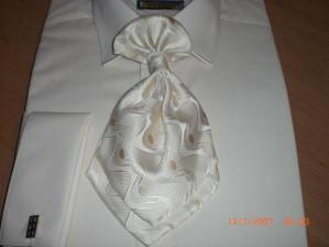 košeľa, kravata, manžetové gombíky