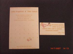 oznámenie a pozvánka k stolu