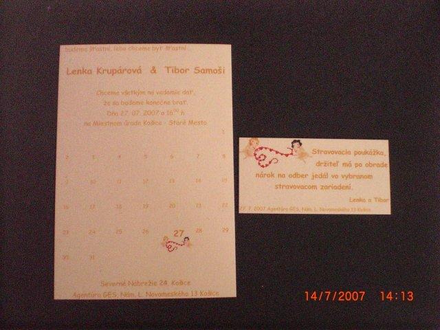 L&T - oznámenie a pozvánka k stolu