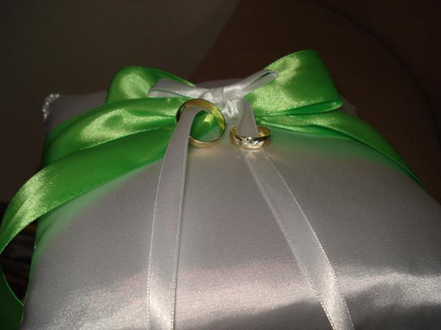 My dreams - náš vankúšik s obrúčkami - ďakujem ulinka :)