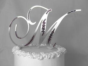 Písmenko M na dort
