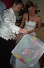 Lampiony štěstí místo svatební knihy
