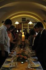 Přípitek a svatební tabule