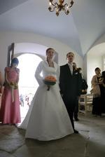 """V kapli (světili ji na naše výročí 2měsíce před svatbou a naší svatbou se """"otevírala"""")"""