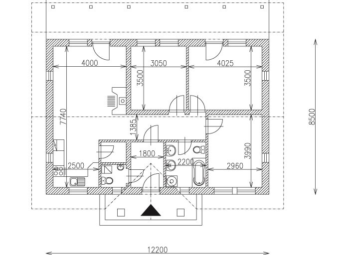 Náš chalupársky sen (Alfa 105) - budú len drobné úpravy v osadení okien a terasy, ostatné zostáva