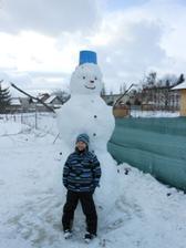 náš snehuliak :)