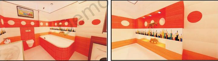 Detská koupelna - Detail nasvetlene niky u vany