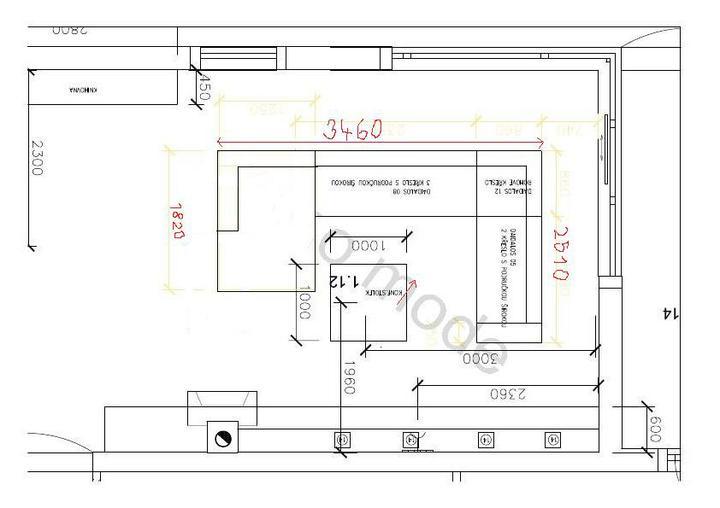 Obývací pokoj - Dispozice sedaci soupravy