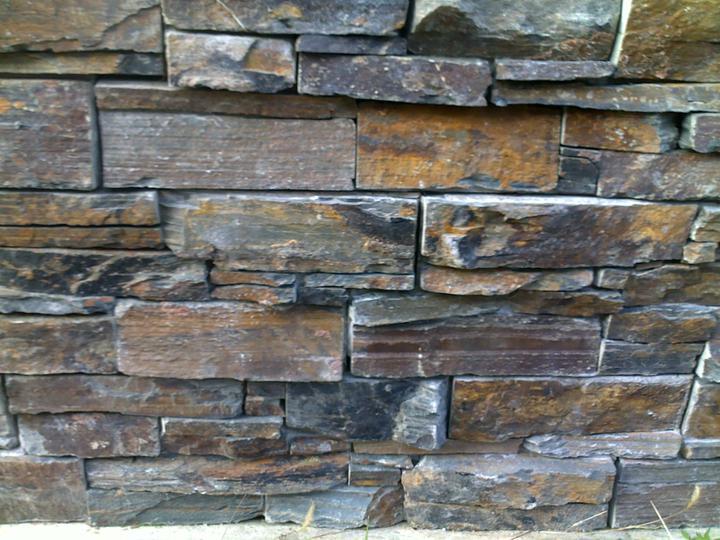 Exterier puvodniho domu+pristavba k domu :) - Detail kamene, jeste bez zvyraznovace...