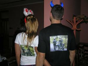 na tričku musí být samozřejmně i naše Yamaha
