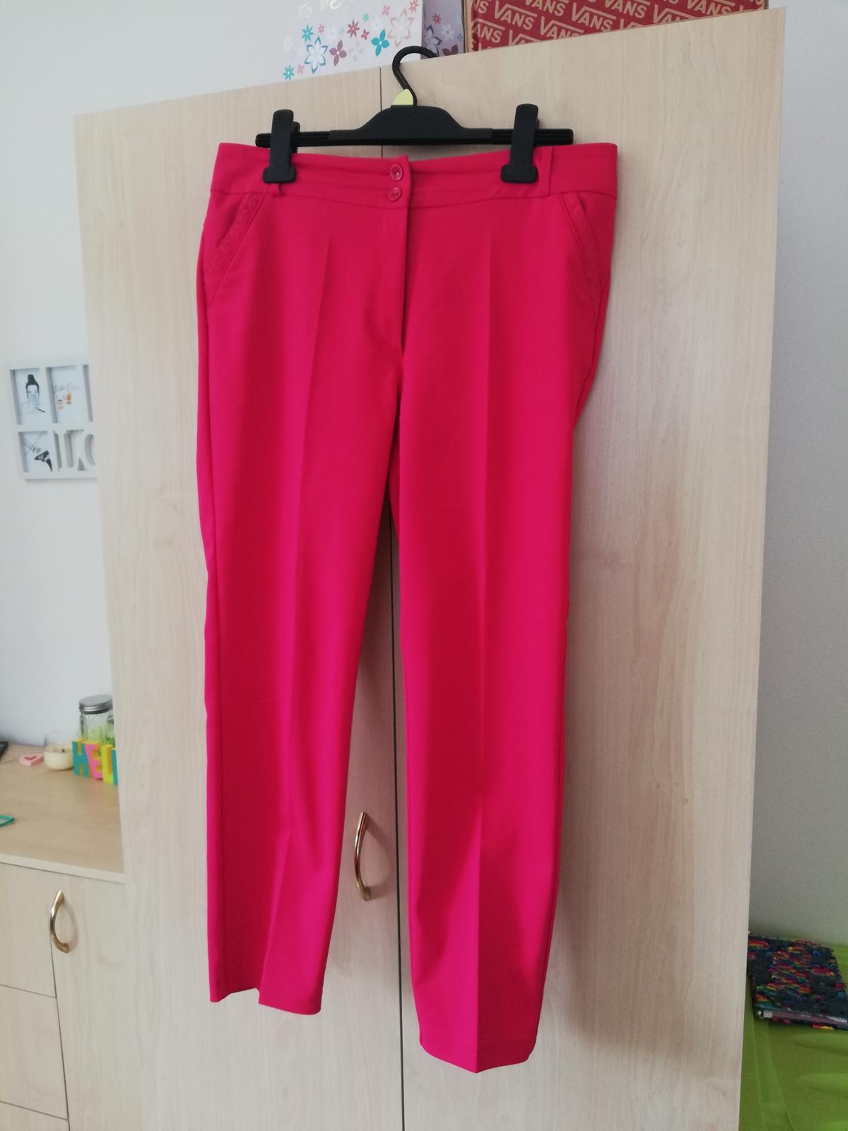Sýtoružové elegantné nohavice - Obrázok č. 1