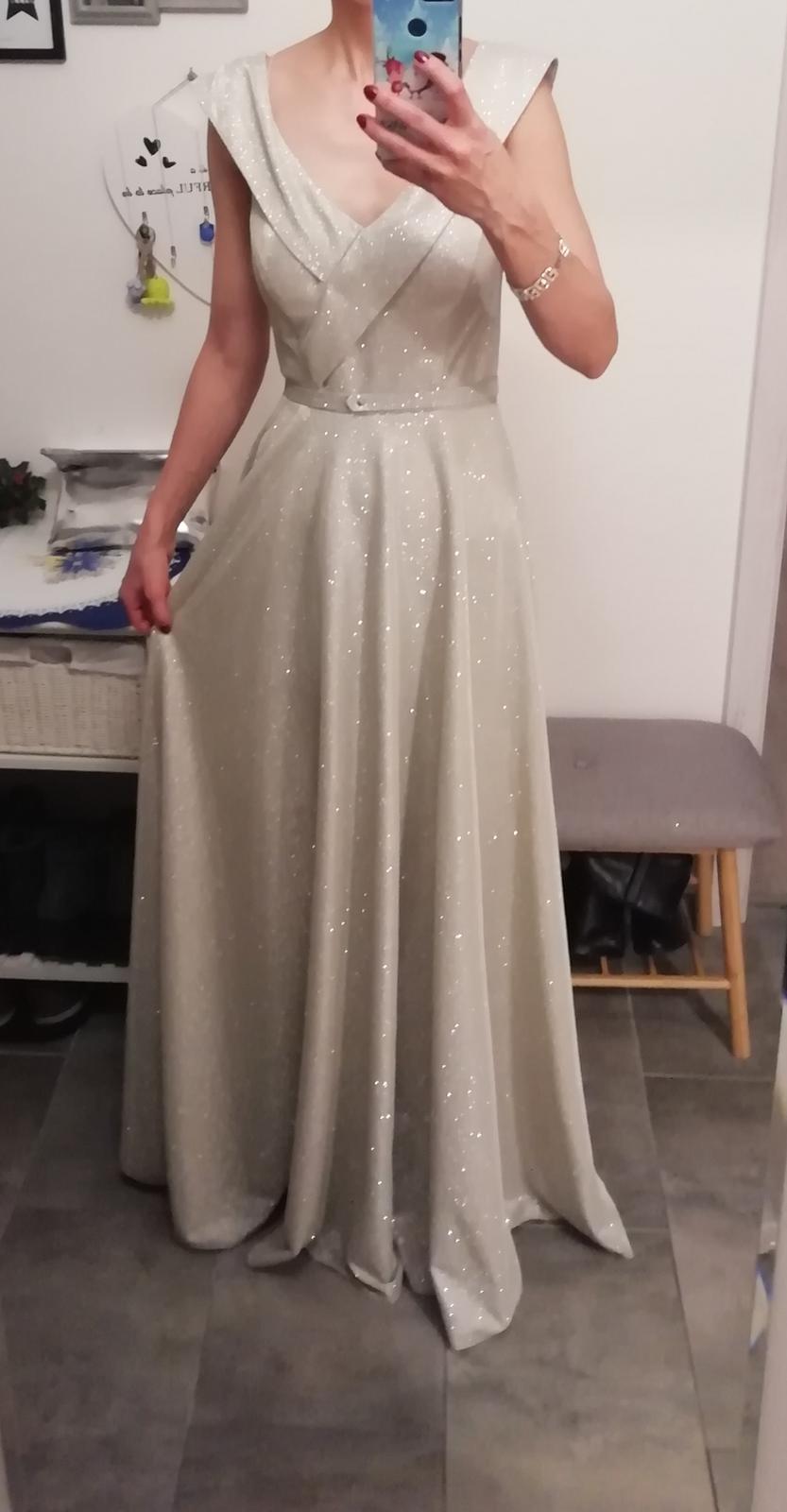 Trblietavé šaty Fervente 34-36 - Obrázok č. 1