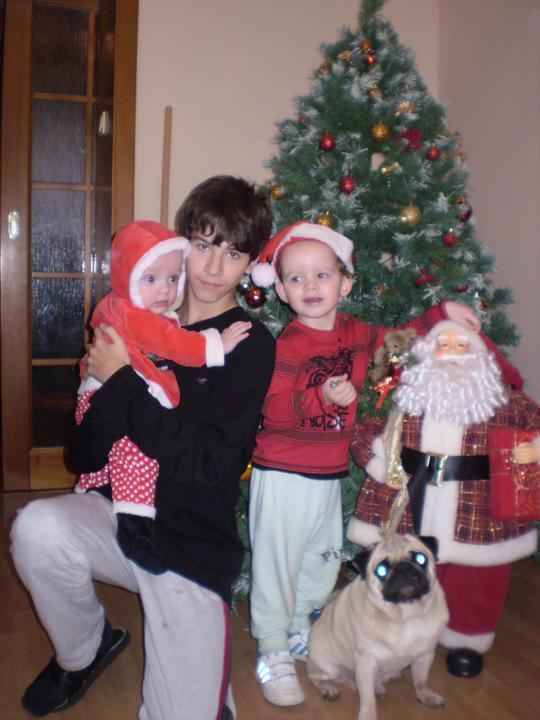 Náš starý domček - chlapci na vianoce aj s Rambom