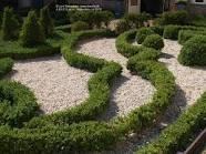 Plány pre našu budúcu záhradu - krásne vynikne ten krušpán na bielych kamienkoch