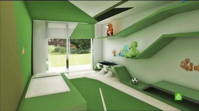 tieto poličky by sa mi páčili do Filipkovej a Dodkovej izbičky, ale izbu určite nedáme celú takúto zelenú :-) inak toto je vraj izba Ronaldovho synčeka