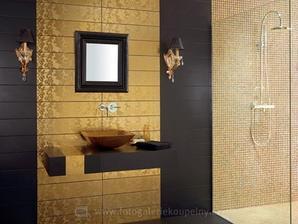 velmi zlé na údržbu - tá čierna musí byť zabiják... :-)  ale tá zlatá mozaika v sprche je naozaj velmi pekná...