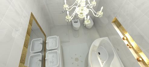 návrh kúpelne - ešte neviem presne ako - ale takto nejako :-)  ale návrh je krásny