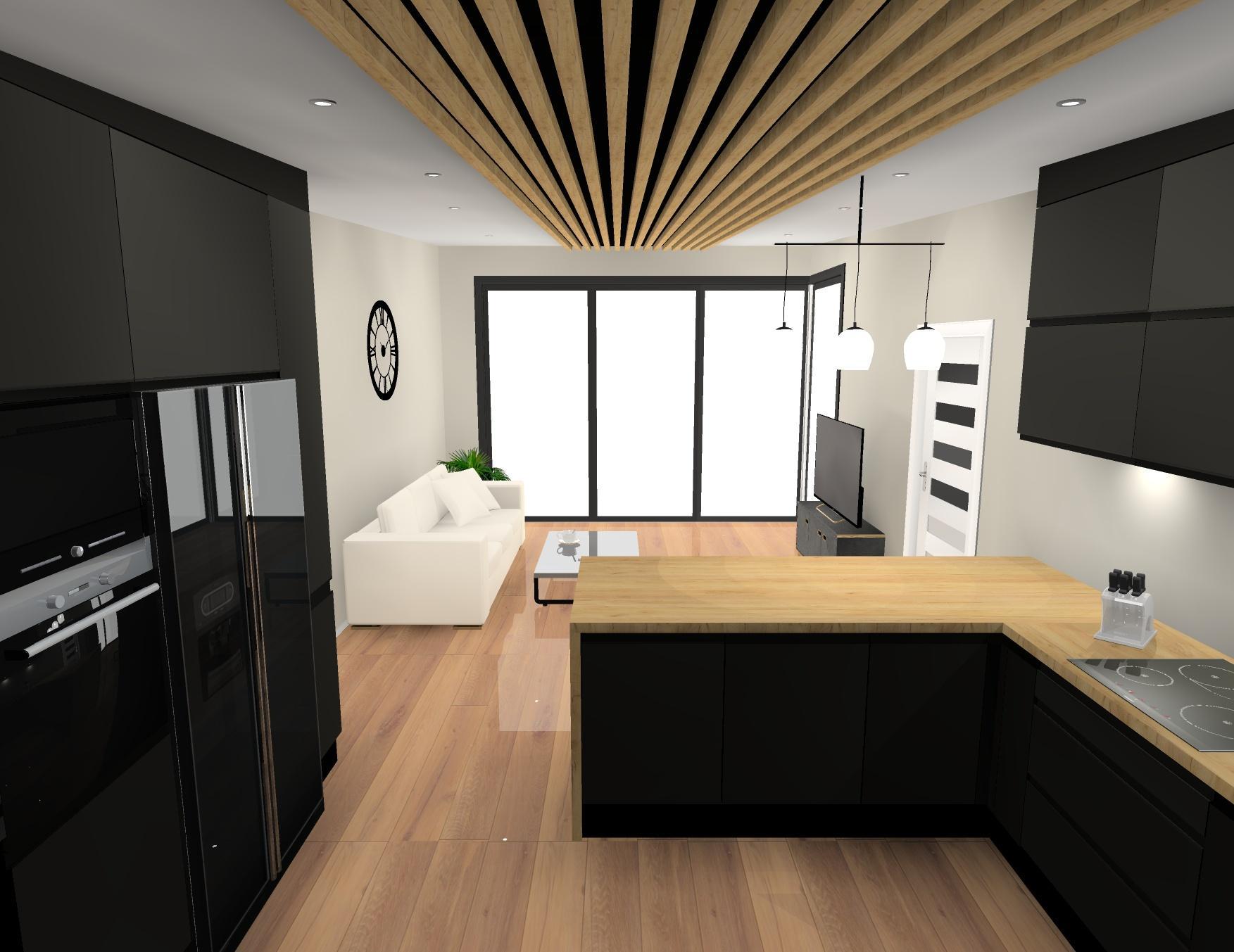 Černou nebo kombinaci s dřevem? Za mě černá... Kvůli podlaze a stropu :) - Obrázek č. 1